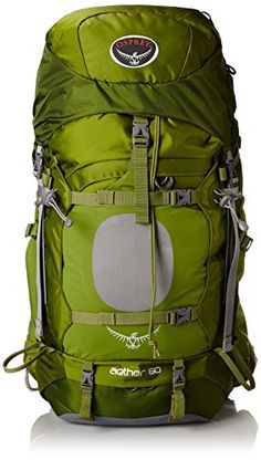 Osprey Mens Aether 60 Backpack Bonsai Green Medium >>> Details can be found by clicking on the image.