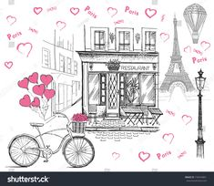 stock-photo-set-of-hand-drawn-french-icons-paris-sketch-illustration-730243861.jpg 1.500×1.300 pixels