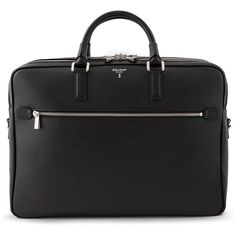 Serapian Double Evolution Briefcase ($1,170) ❤ liked on Polyvore featuring bags and briefcases