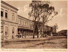 1895 - Vista da parte interna da Hospedaria dos Imigrantes no bairro da Mooca, atual Museu dos Imigrantes.