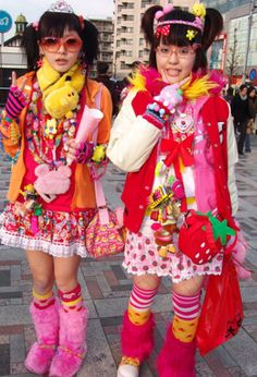 Harajuku Girls - such strange teen fashion in Tokyo - want to roam the streets to see them