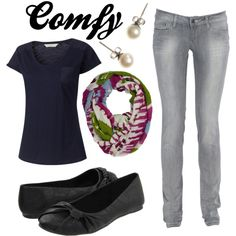 A fashion look from May 2012 featuring pocket shirts, skinny leg jeans and flat pumps. Browse and shop related looks.