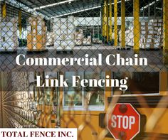 Commercial chain link fencing is an attractive option with variety of colors and heights to build fences for home or office without blocking off visible sight. Different Types Of Fences, Fencing Companies, Chain Link Fence, Toronto, Commercial, How To Remove, Industrial, Canada, Fit