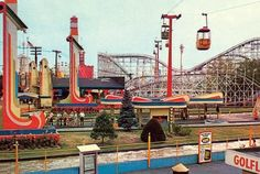 Palisades Amusement Park - Cliffside Park, NJ - Favorite hangout in my hometown of 25 years. Palisades Amusement Park, Palisades Park, Jersey Girl, New Jersey, Cliffside Park, Tunnel Of Love, Amusement Park Rides, Bergen County, Vintage Postcards