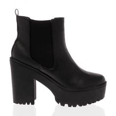 Shay Black Cleated Sole Chelsea Boots from Public Desire UK!