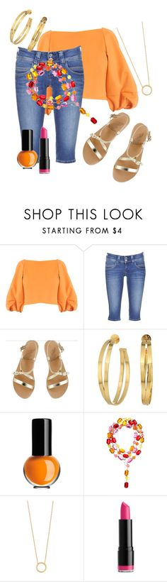 """""""it's All About The Belt"""" by foldym-sd ❤ liked on Polyvore featuring TIBI, Pepe Jeans London, Ancient Greek Sandals, Tory Burch, Kosta Boda, Jennifer Zeuner and NYX"""