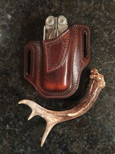 Custom Leatherman Wave leather pouch.