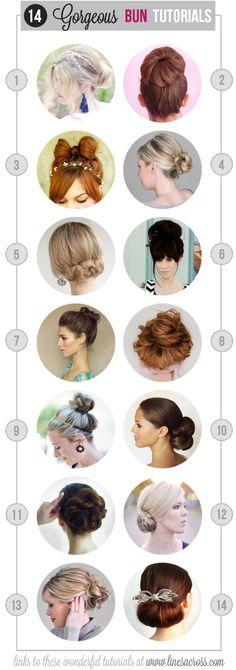 """Lines Across"": 14 Gorgeous Bun Tutorials #hair #buns #tutorial"