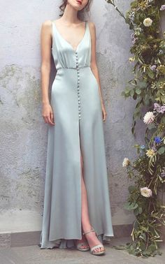 Satin Full Length #Dress by Luisa Beccaria #dress heels formal