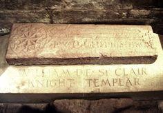 Knight Templar marking inside Rosslyn Chapel's crypt