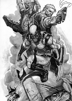 Geek Art: Black and White Comic-Book Art by Stjepan Sejic - News - GeekTyrant Comic Book Artists, Comic Book Characters, Marvel Characters, Comic Character, Comic Books Art, Comic Art, Wolverine Comics, Marvel Comics, Black And White Comics