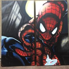 "Matthew Arnold on Instagram: ""Throwback Thursday!! Gotta love Spider-Man. ##marvel #graffiti #streetart #spraypaintspiderman #graffitispiderman #selfportrait"" Throwback Thursday, Spiderman, Graffiti, Street Art, Marvel, Superhero, Fictional Characters, Instagram, Spider Man"