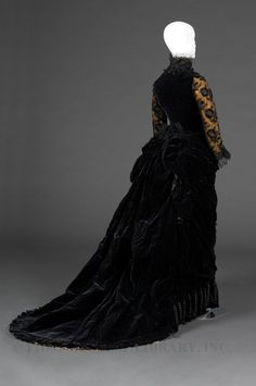 Worth reception dress ca. 1878 From the FIDM Museum