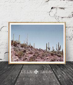 Desert Photography Print, Arizona Landscape Wall Art, Cactus, Printable Poster, Digital Download, Mexican Decor, Cacti, Modern Contemporary