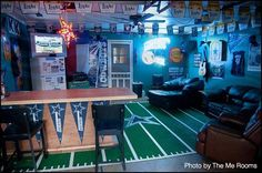 Sort of a dated Dallas Cowboy man cave, but it's awesome nonetheless. #DallasCowboys #mancave
