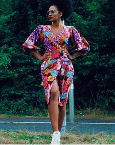 Excited to share this item from my shop: African print Ankara wax floral wrap dress gown kimono jacket coat Short African Dresses, Latest African Fashion Dresses, African Print Dresses, Ankara Fashion, African Prints, Short Dresses, African Clothes, Wrap Dresses, Latest Fashion