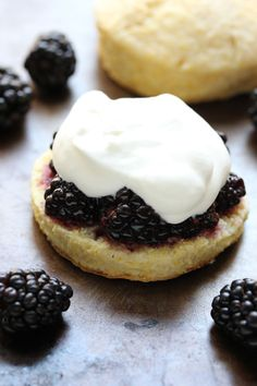 Blackberry Cornmeal Shortcakes