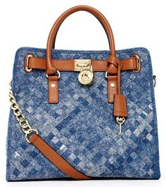Michael Kors Hamilton Large Woven Denim