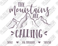 Disney The Mountains Are Calling Cut File Set in SVG, EPS, DXF, JPEG, and PNG