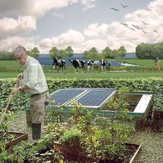 Photovoltage and landscape, design by Vollmer & Partners. Zonne-energie en landschap door Vollmer & Partners