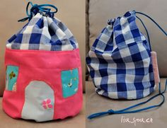house tote instructions and pattern, great for going to Grandma's house... or for all those little teeny lalaloopsy dolls.