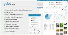 Gebo Admin Responsive Template - Admin Templates Site Templates