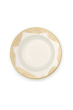 KELLY WEARSTLER | BEDFORD SOUP PLATE. Fine china with 22k gold.