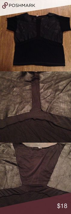 Urban renewal shirt One size leather patch on front and back Urban Outfitters Tops