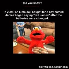 OMG it's true!!! We've had a few encounters with Elmo balloons/toys! Freaky!!