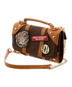 Look at this Harry Potter Brown & Tan Patch Clutch on #zulily today!