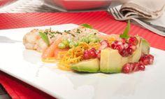 Receta de Ensalada de aguacate, pomelo y cigalas