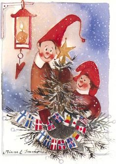 Postcrossing postcard from Finland Christmas Card Pictures, Christmas Artwork, Beautiful Christmas Cards, Christmas Images, All Things Christmas, Christmas Fairy, Christmas Music, Winter Christmas, Vintage Christmas