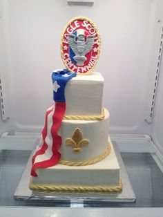Eagle Scout Cake (fondant decorating helps)