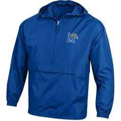 Champion Men's University of Memphis Packable Jacket (Blue, Size X Large) - NCAA Licensed Product, NCAA Men's Fleece/Jackets at Academy Sports