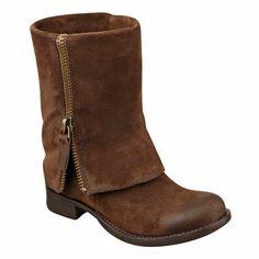 low heel, worn suede, and fold-over zip?  Yessss