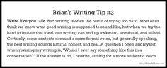 Brian's Writing Tip #3 Write Like You Talk