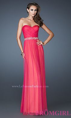 Ruched Strapless Sweetheart Dress at PromGirl.com