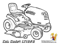 Coloring page lawn mower - coloring picture lawn mower. Free ...
