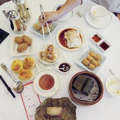Dim Sum at Maxim's Palace in Hong Kong.