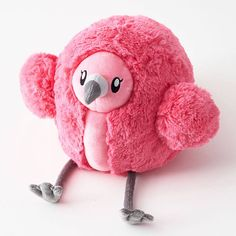 A plump and cuddly flamingo makes the perfect gift! Round and fluffy pink flamingo plush toy with grey legs and beak. Pub Table And Chairs, Facial Treatment Essence, Paper Source, Cute Plush, Pink Flamingos, Sale Items, Pup, Design Inspiration, Kawaii