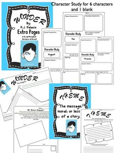 Wonder R.J. Palacio Novel Study EVERYTHING You need! These are just some of the extra activities….questions and vocabulary included too! $