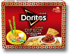 ドリトス DIPBOX コーンチップしお味&サルサ