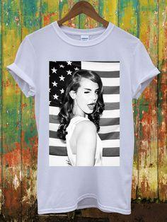694e91100 Lana Del Rey American Flag Music Louis Vuitton Chanel Celine Paris Swag  Wasted Hippie Comme Des Fuckdown Dope Men Women Unisex Top T-Shirt on Etsy,  $13.06