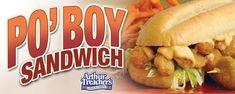 PO BOY SANDWICH Arthur Treacher's Copycat Recipe Makes 4 sandwiches Sandwiches: 1 pound medium shrimp, shelled, deveined and with t. Arthur Treacher, Po Boy Sandwich, Shrimp Po Boy, Long John Silver, Remoulade Sauce, Battered Fish, Stuffed Shells, Fish And Chips, Wrap Sandwiches