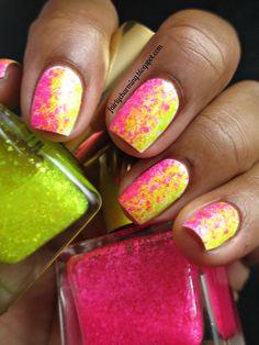 Fairly Charming: Pink Lemonade Glitter Gradient