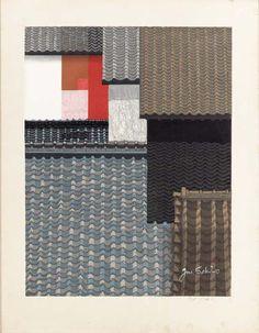 "Sekino Jun'ichiro (1914-1988) Untitled (Tile roofs of Nagoya) Untitled (New York) Untitled (Suisho no bannin [Crystal guardian figure]) Untitled (Owl) http://www.christies.com/LotFinder/lot_details.aspx?intObjectID=1868364 ""Junichiro Sekino is one of..."