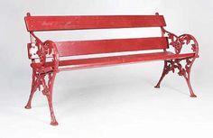 Antique Cast Iron Garden Bench Seat