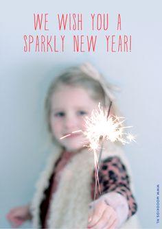 """kerstkaart met sterretje in hand  """".....Spetterend nieuwjaar"""""""