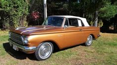 1962 AMC Rambler 400 Convertible. We had a gold one like this too.  I think my family liked AMC cars.