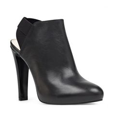 Women's Nine West Burke Heel Strap Bootie (2,000 MXN) ❤ liked on Polyvore featuring shoes, boots, ankle booties, elastic boots, ankle bootie boots, nine west boots, nine west booties and nine west